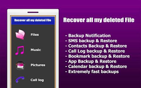 screenshot of إسترجاع جميع الملفات الممسوحة version 2.1