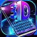 Download 3D blue tech dimensional Keyboard 10001002 APK