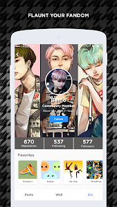 screenshot of ARMY Amino for BTS Stans version 1.1.5302