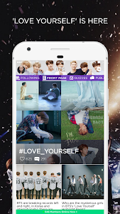 screenshot of ARMY Amino for BTS Stans version 1.8.18188