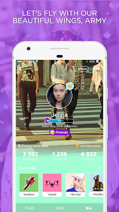screenshot of ARMY Amino for BTS Stans version 1.8.10170