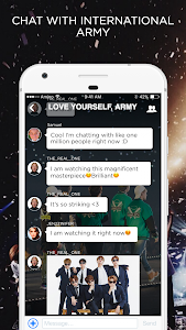 screenshot of ARMY Amino for BTS Stans version 1.8.10526