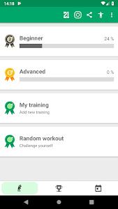 screenshot of Abs workout - 21 Day Fitness Challenge version 1.0.1.2