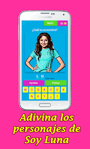 screenshot of Adivina el personaje de Soy Luna version 3.3.7z