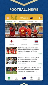 screenshot of All Football - Latest News & Videos version 3.0