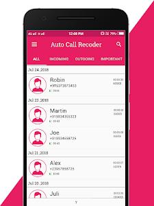 screenshot of Auto Call Recoder version 1.0.3