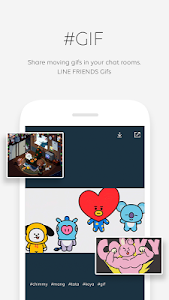 screenshot of LINE FRIENDS - characters / backgrounds / GIFs version 2.1.6