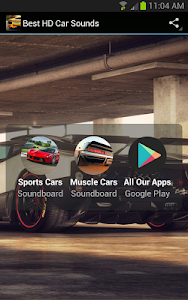 screenshot of Best HD Car Sounds version 1.2