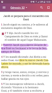 screenshot of Biblia Reina Valera 1960 Español version 10.5