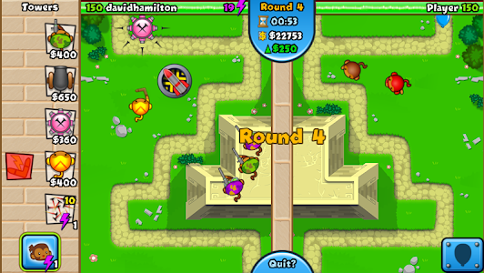 screenshot of Bloons TD Battles version 3.4.0