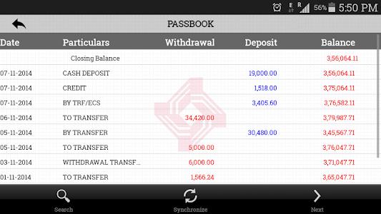 screenshot of Cent m-passbook version 1.04