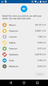 screenshot of Coinomi Bitcoin Altcoin Wallet version v1.6.5
