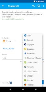 screenshot of Coinomi Wallet :: Bitcoin Ethereum Altcoins Tokens version 1.11.2