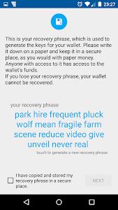 screenshot of Coinomi Bitcoin Altcoin Wallet version v1.6.7
