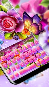 Download Color shiny rose theme keyboard 10001005 APK