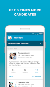 screenshot of CornerJob - Job offers, Recruitment, Job Search version 1.6.5