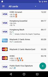 screenshot of Credit Card Manager version 1.6.1