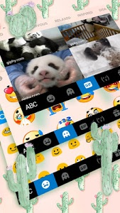 Download Cute Cartoon Cactus Keyboard Theme 1.0 APK