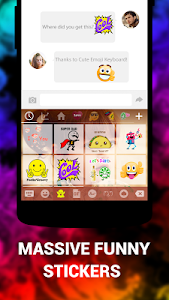Download Emoji Keyboard Cute Emoticons - Theme, GIF, Emoji 1.6.5.0 APK