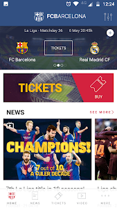 screenshot of FC Barcelona Official App version 4.0.14