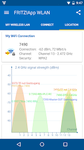 screenshot of FRITZ!App WLAN version Varies with device