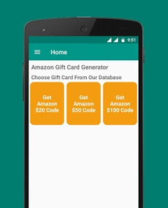 screenshot of Free Gift Card Generator version 1.8