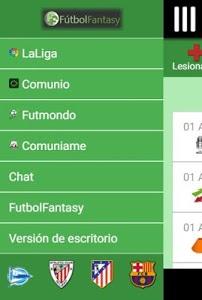 screenshot of FutbolFantasy & Comunio version 2.1.5