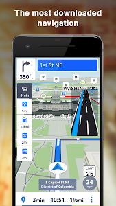 screenshot of GPS Navigation & Offline Maps Sygic version 17.4.28