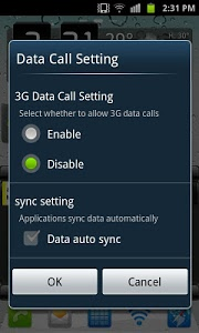 screenshot of Galaxy 3G/4G Setting (ON/OFF) version 0.5.2