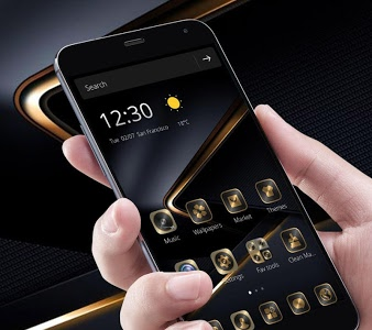 Download Golden Black Theme for P10 1.1.7 APK