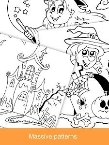 screenshot of Halloween Coloring Books 2018 version 1.5.0