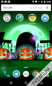 screenshot of Halloween live wallpaper with countdown and sounds version 4.1.3