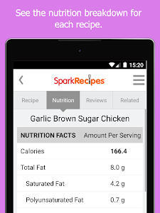 screenshot of Healthy Recipes & Calculator version 5.02
