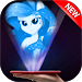 Download Hologram Fluttershy Rarity Rainbow Dash Pony Girl 1.0 APK