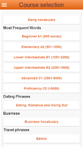 screenshot of Learn Italian Words Free version 2.5.2