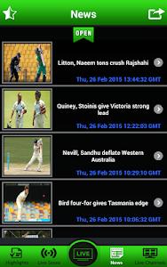 screenshot of Live Cricket Matches version 1.6