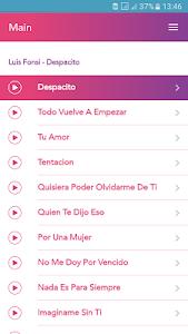 screenshot of Luis Fonsi Despacito version 12.0.0