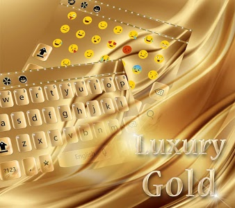 Download Luxury Gold Keyboard Theme 10001011 APK