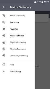 screenshot of Maths Dictionary version 4