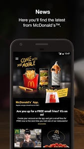 screenshot of McDonald's version 1.2.7