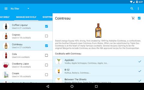 screenshot of My Cocktail Bar version 2.0.2