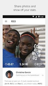 screenshot of Nike+ Run Club version 2.0.4