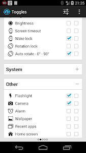 screenshot of Notification Toggle version 3.8.2
