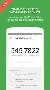 screenshot of Ola Money - Wallet payments version 1.9.5