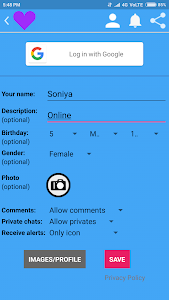 screenshot of Online Girls Chat Meet version 9.1
