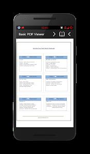 screenshot of PDF Reader version 1.9