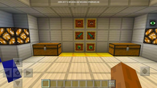 screenshot of PVP ZombieArena map for MCPE version 1.3.15