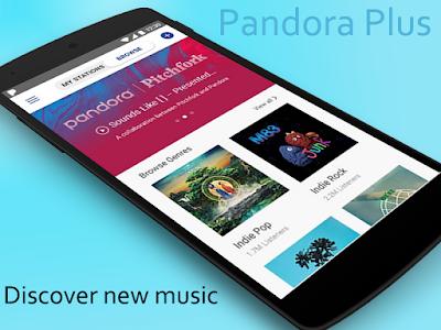 screenshot of Pandora Plus version 5.5
