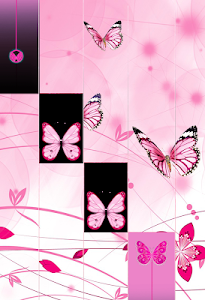screenshot of Pink Butterfly Piano Tiles 2018 version 1.2