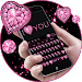 Download Pink Heart Diamond Keyboard 10001003 APK